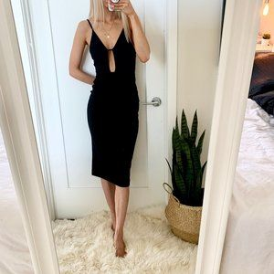 Oh My Love UO Bodycon Midi Dress Cut Out SMALL
